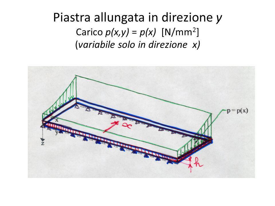 Piastra allungata in direzione y Carico p(x,y) = p(x) [N/mm2] (variabile solo in direzione x)